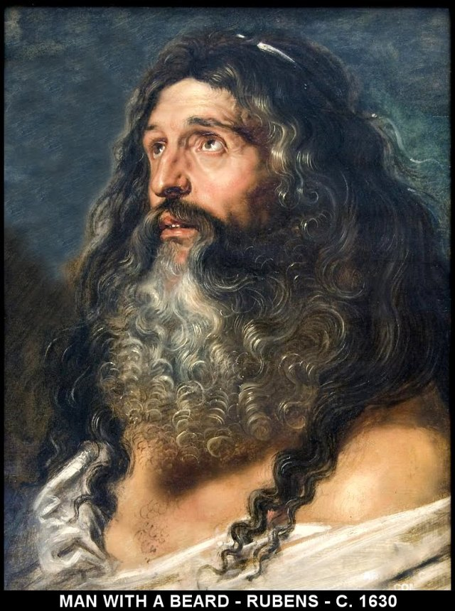 BEARDED MAN-PETER PAUL RUBENS-1630